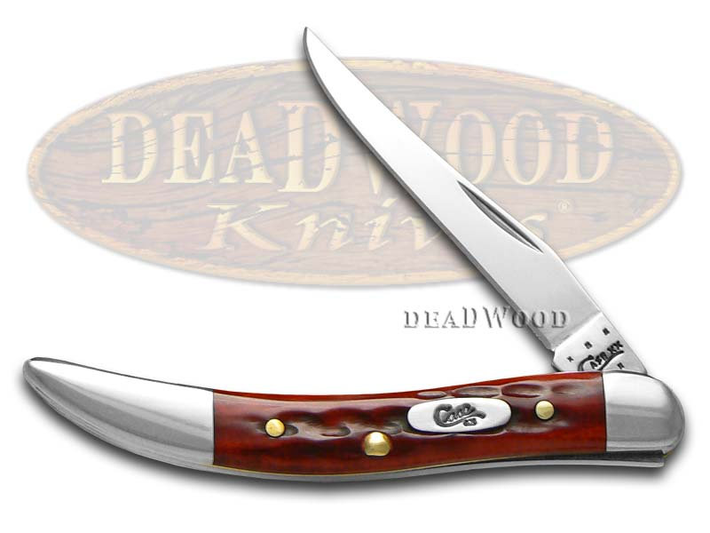 Case xx Jigged Old Red Bone Pocket Worn Toothpick Stainless Pocket Knife Knives