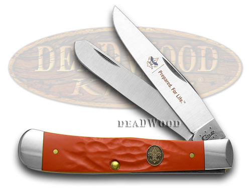 Case xx Red Delrin Boy Scouts of America Trapper Pocket Knife Knives