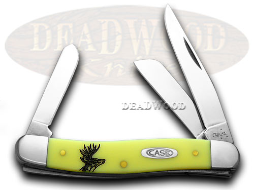 Case xx Deer Scene Yellow Stockman 1/1000 Pocket Knife Knives