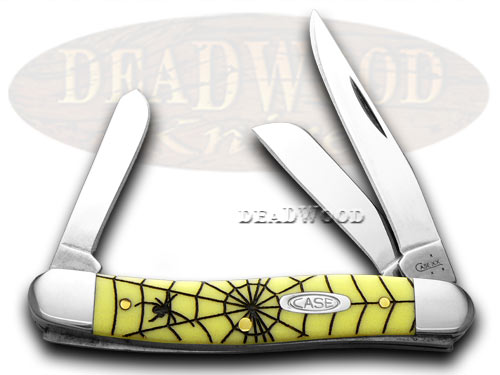 Case xx Spider Web Yellow Stockman 1/1000 Pocket Knife Knives