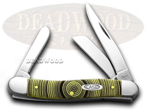 Case xx Tree Rings Yellow Stockman 1/1000 Pocket Knife Knives