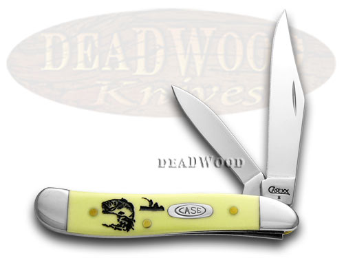 Case xx Yellow Synthetic Bass Fever Peanut 1/500 Pocket Knife Knives