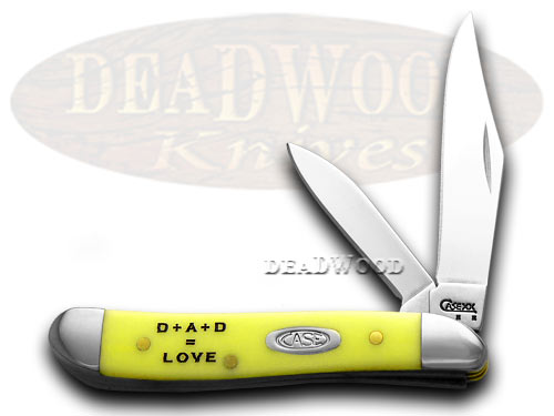 Case xx Fathers Day Yellow Peanut 1/1000 Pocket Knife Knives