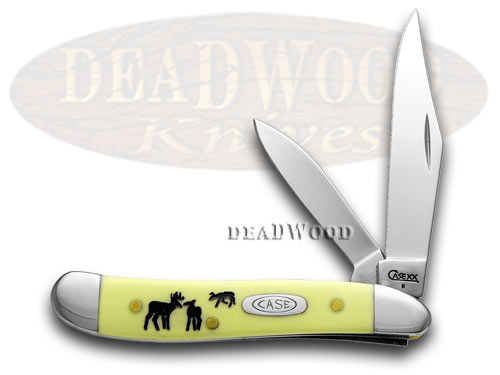 Case xx Yellow Synthetic Rut Peanut 1/500 Pocket Knife Knives