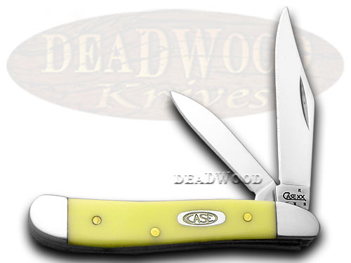 Case xx Peanut Yellow Synthetic Pocket Knife Knives
