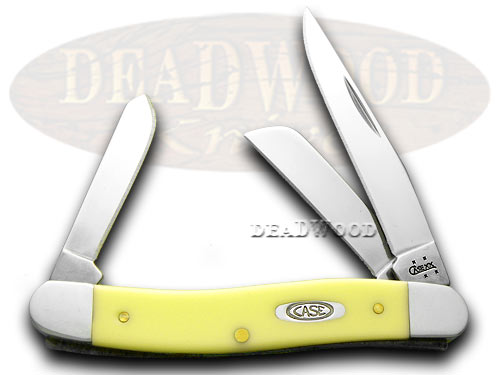 Case xx Stockman - Yellow Synthetic Handles Pocket Knife Knives