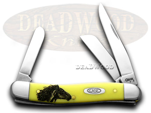Case xx Wild Mustang Stockman Yellow Synthetic 1/1000 Pocket Knife Knives