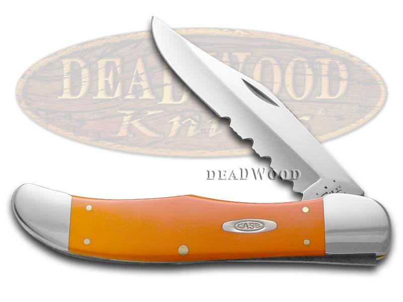 Case xx Orange Delrin Folding Hunter Stainless Pocket Knife Knives