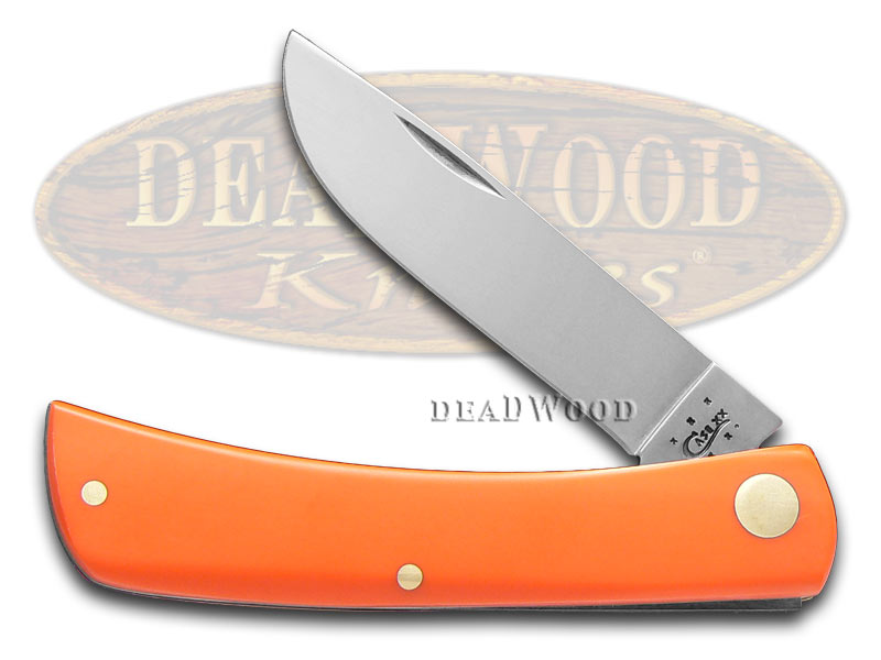 Case xx Smooth Orange Delrin Sod Buster Jr Stainless Pocket Knife Knives