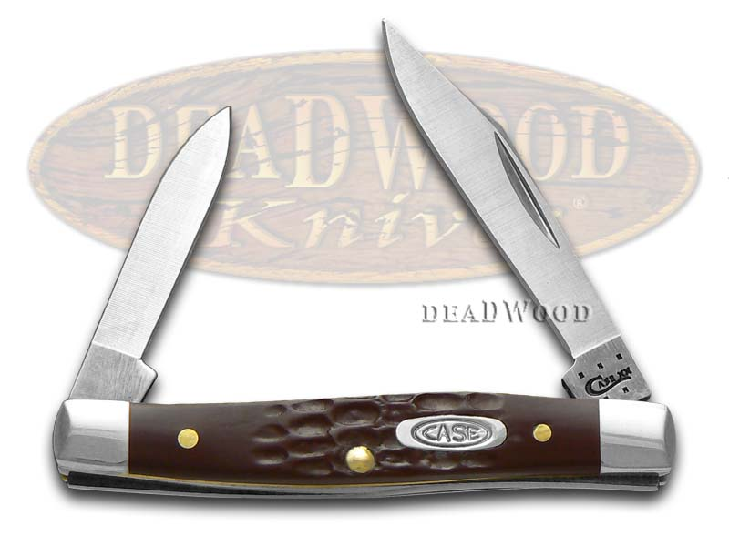 Case xx Jigged Brown Synthetic Pen Stainless Pocket Knife Knives