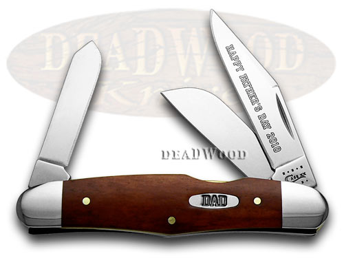 Case xx Fathers Day 2010 Chestnut Bone Humpback Stockman Pocket Knife Knives