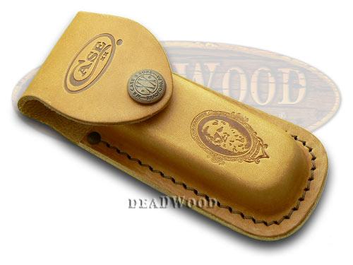 Case xx Medium Brown Leather Job Case Belt Sheath for Pocket Knives