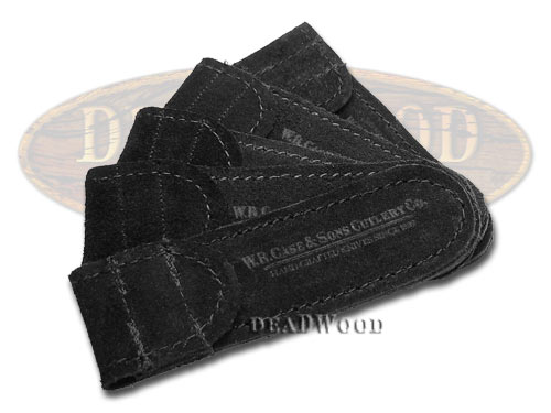 Case xx 5 Small Black Suede Leather Pouch for Pocket Knives
