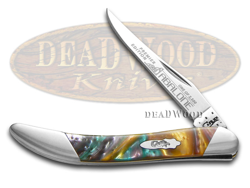 Case xx Slant Series Abalone Corelon Small Toothpick 1/2500 Stainless Pocket Knife