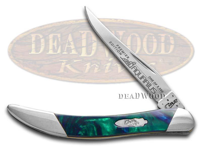 Case xx Slant Series Aquarius Corelon Toothpick 1/2500 Stainless Pocket Knife