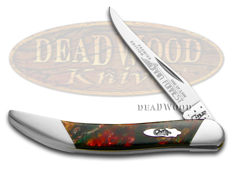 Case xx Slant Series Rain Forrest Corelon Small Toothpick 1/2500 Stainless Pocket Knife Knives