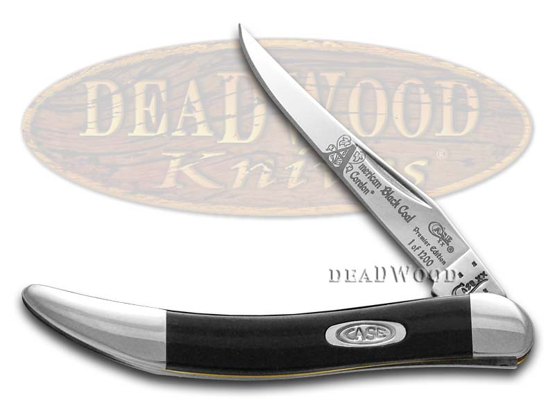 Case xx America's Black Coal Corelon Toothpick 1/1200 Stainless Pocket Knife Knives