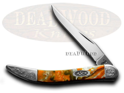 Case xx Engraved Bolster Series Genuine Oktoberfest Corelon Toothpick Pocket Knives