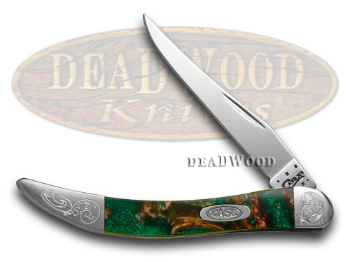 Case xx Engraved Bolster Series Rain Forest Corelon Toothpick Pocket Knife Knives