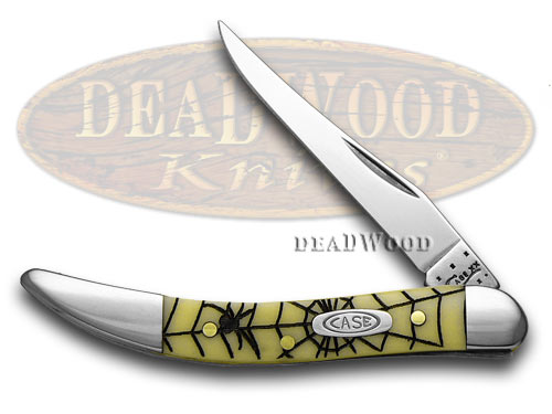 Case xx Yellow Synthetic Spider Web CV Toothpick 1/500 Pocket Knife Knives