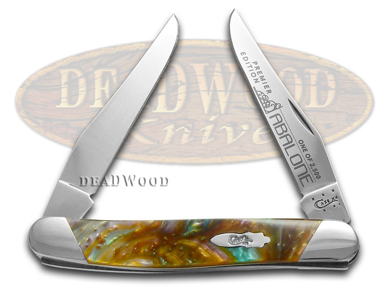 Case xx Slant Series Abalone Corelon Muskrat 1/2500 Stainless Pocket Knife Knives