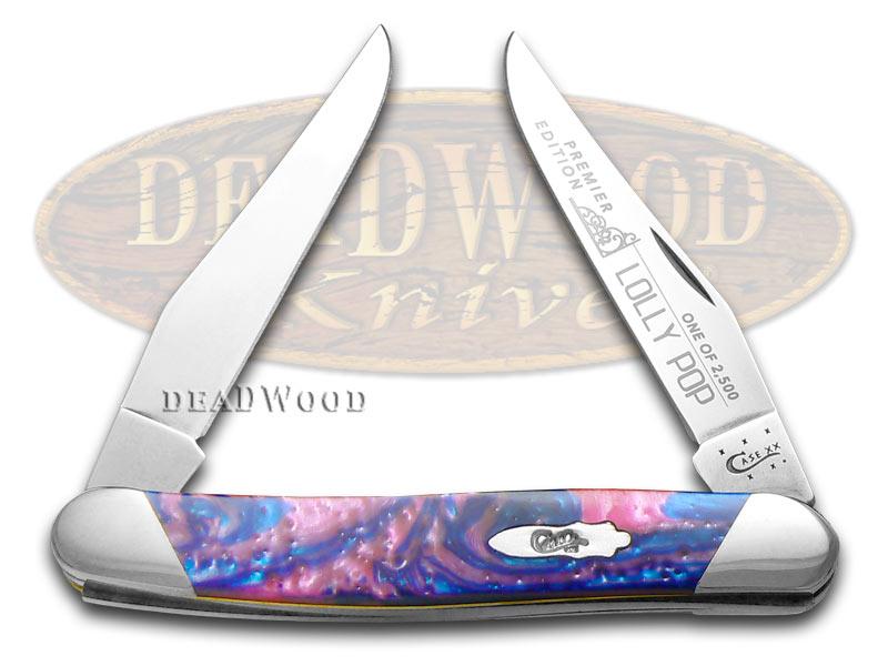 Case xx Slant Series Lolly Pop Corelon Muskrat 1/2500 Stainless Pocket Knife Knives