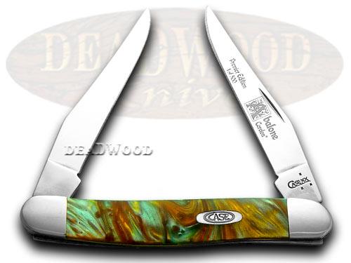 Case xx Abalone Genuine Corelon 1/500 Muskrat Pocket Knife Knives