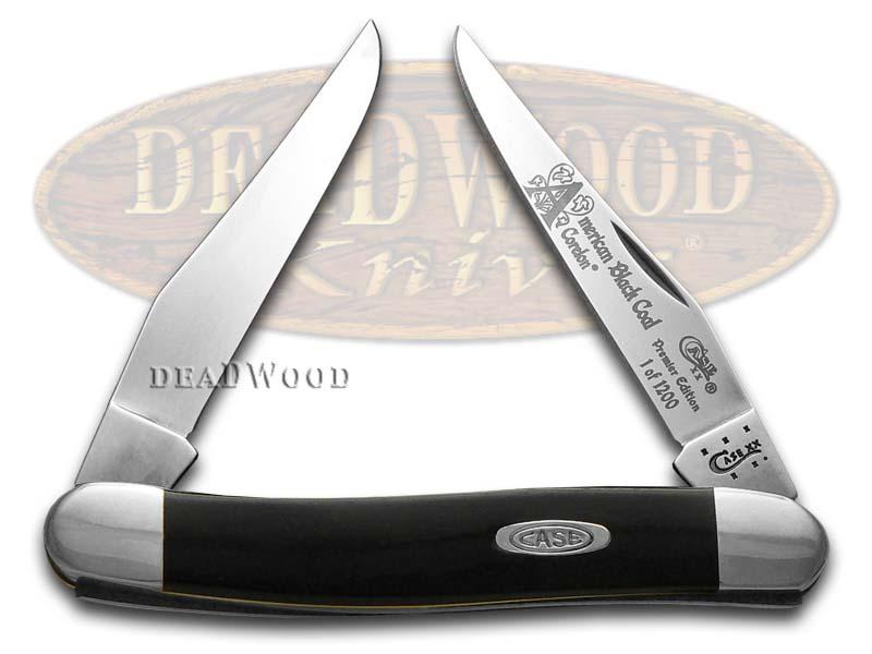 Case xx America's Black Coal Corelon Muskrat 1/1200 Stainless Pocket Knife Knives