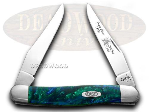 Case xx Aquarius Genuine Corelon 1/500 Muskrat Pocket Knife Knives