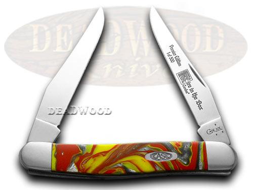 Case xx Genuine Fire In Box Corelon 1/500 Muskrat Pocket Knife Knives