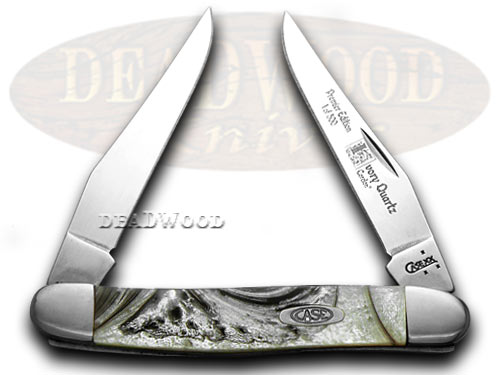 Case xx Ivory Quartz Genuine Corelon 1/500 Muskrat Pocket Knife Knives