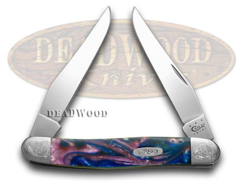 Case xx Engraved Bolster Series Lolly Pop Corelon Muskrat Pocket Knife Knives