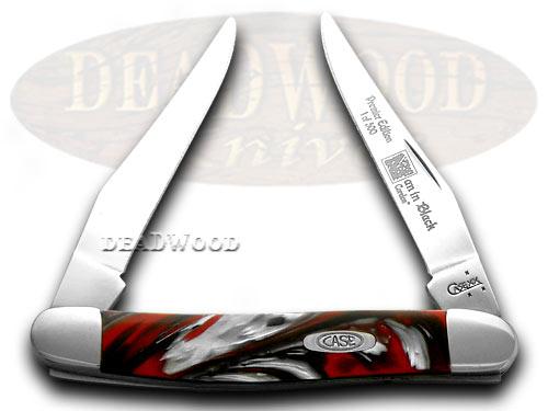 Case xx Genuine Man In Black Corelon 1/500 Muskrat Pocket Knife Knives