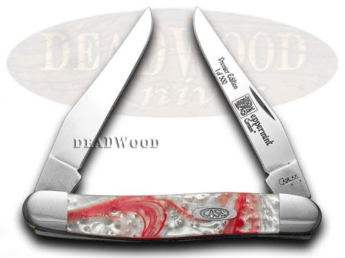 Case xx Genuine Peppermint Corelon Muskrat 1/500 Pocket Knife Knives