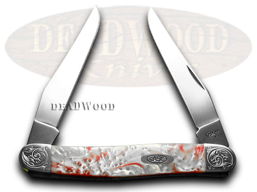 Case xx Engraved Bolster Series Genuine Peppermint Corelon Muskrat Pocket Knife