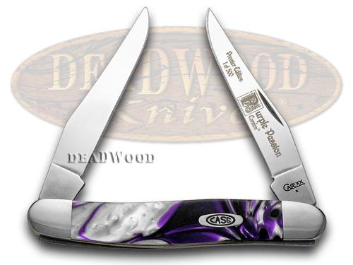 Case xx Purple Passion Genuine Corelon 1/500 Muskrat Pocket Knife Knives