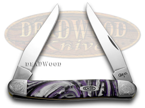 Case xx Engraved Bolster Series Purple Passion Scrolled Muskrat Pocket Knives