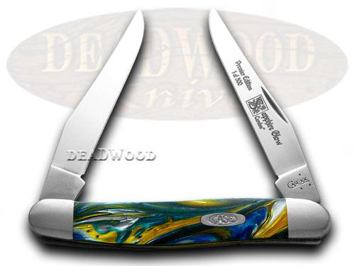 Case xx Genuine Sapphire Corelon 1/500 Muskrat Pocket Knife Knives