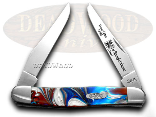 Case xx Genuine Star Spangled Muskrat 1/500 Pocket Knife Knives