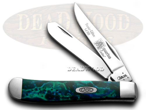 Case xx Aquarius Genuine Corelon 1/500 Mini Trapper Pocket Knife Knives
