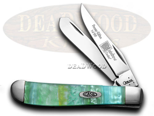 Case xx Rainbow Genuine Corelon 1/500 Mini Trapper Pocket Knife Knives