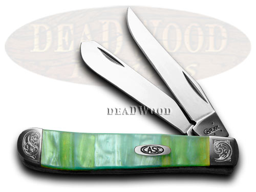 Case xx Engraved Bolster Series Genuine Rainbow Corelon Mini Trapper Pocket Knives