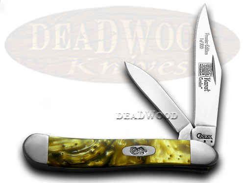 Case xx 24K Gold Genuine Corelon 1/500 Peanut Pocket Knife Knives