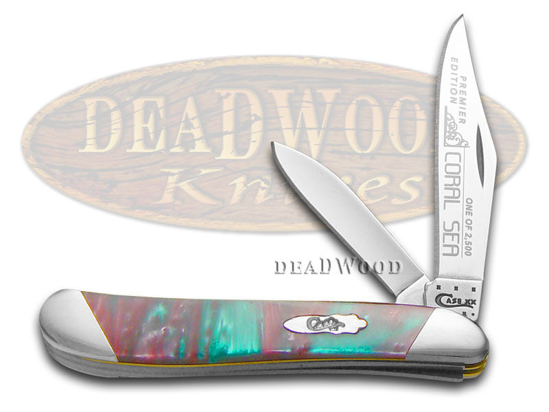 Case xx Slant Series Coral Sea Corelon Peanut 1/2500 Stainless Pocket Knife Knives