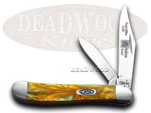 Case xx Abalone Genuine Corelon 1/500 Peanut Pocket Knife Knives