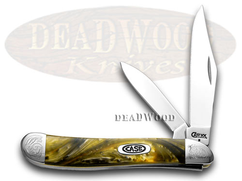 Case xx Engraved Bolster Series Genuine Butter Rum Corelon Peanut Pocket Knife