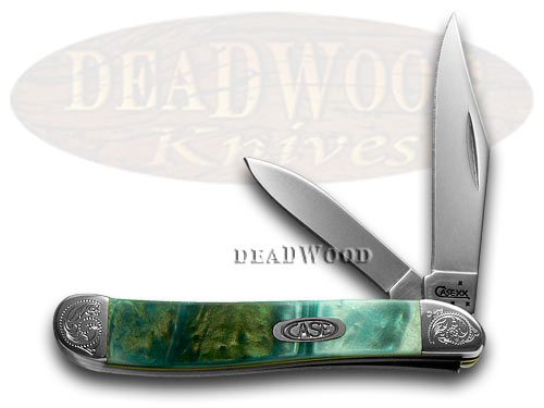 Case xx Engraved Bolster Series Genuine Cloudland Corelon Peanut Pocket Knives