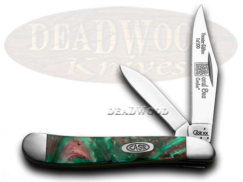 Case xx Coral Sea Genuine Corelon 1/500 Peanut Pocket Knife Knives