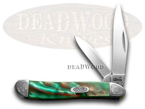 Case xx Engraved Bolster Series Coral Sea Genuine Corelon  Peanut Pocket Knives