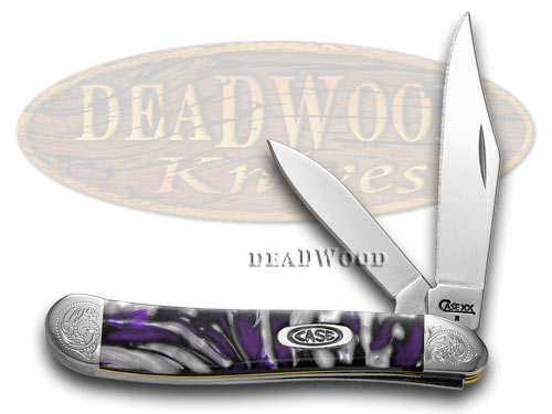 Case xx Engraved Bolster Series Purple Passion Scrolled Peanut Pocket Knives